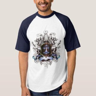 Stilfull blåttkordesign t shirt