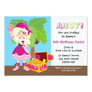Stilfull blond födelsedagsfest för unge för 12,7 x 17,8 cm inbjudningskort