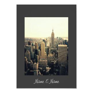 Stilfull elegant New York bröllopinbjudan 12,7 X 17,8 Cm Inbjudningskort