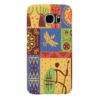 Stilfull färgrik afrikansk design galaxy s5 fodral