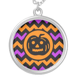 Stilfull Halloween pumpa Silverpläterat Halsband