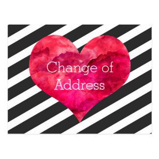 Stilfull hjärta för rosavattenfärg vykort