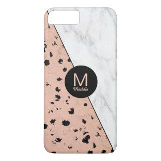Stilfull marmor och rosa guld- mönster med