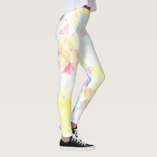 Stilfull mjuk geometrisk mönsterdamasker leggings