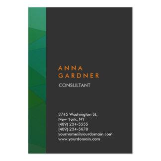Stilfull modern elegant kreativ för grå set av breda visitkort