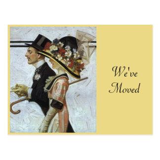 Stilfull ny adress vintagevi har flyttat för vykort