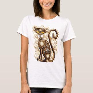 Stilfull overklig Steampunk katt Tee Shirt