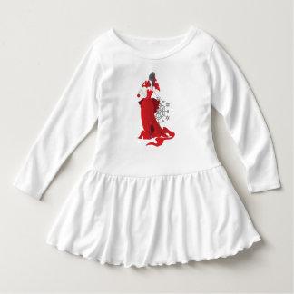 Stilfull röd grå illustration för modejul tee shirt