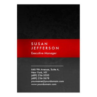 Stilfull röd unik grå färgmönsterprofessionell set av breda visitkort