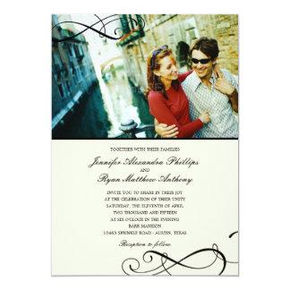 Stilfull rullarepetition middag/Wedding dusch 12,7 X 17,8 Cm Inbjudningskort