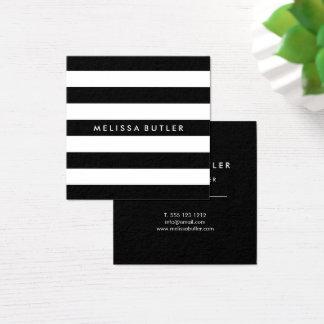Stilfull svartvit rand fyrkantigt visitkort