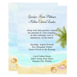 Stilfull tropisk strandbröllopinbjudan 12,7 x 17,8 cm inbjudningskort