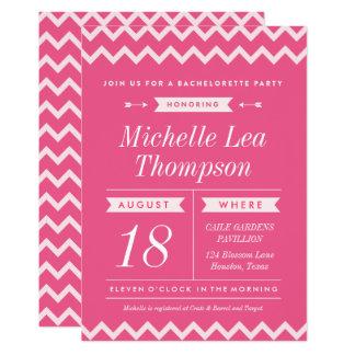 Stilfulla Bachelorette för rosa sparre 12,7 X 17,8 Cm Inbjudningskort