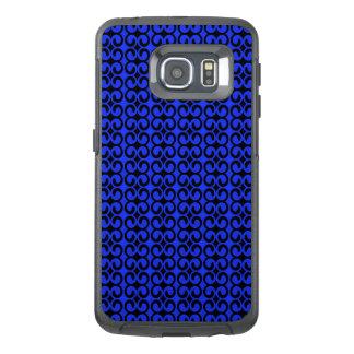 Stilfulla blått och svart mönster