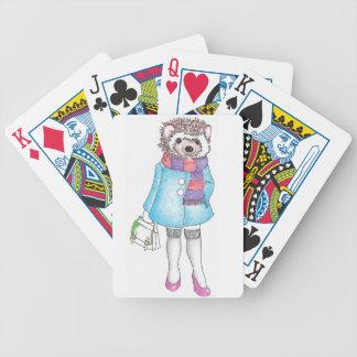 Stilfulla Hedgie Spelkort