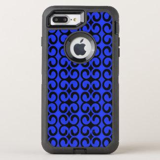 Stilfulla midnatta blått och svart mönster OtterBox defender iPhone 7 plus skal
