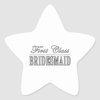 Stilfulla roliga brudtärnagåvor: Klassificera Stjärnformat Klistermärke