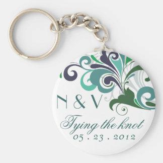 Stilfullt bröllop rund nyckelring