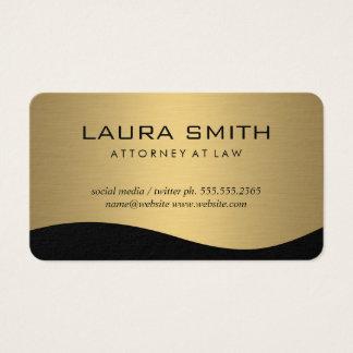 Stilfullt företags/metalliskt guld visitkort