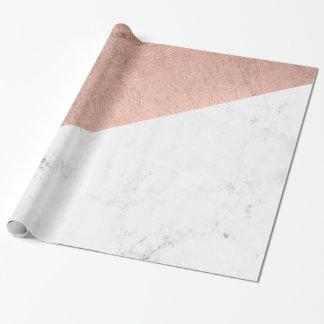 Stilfullt modernt rosa guld- kvarter för presentpapper