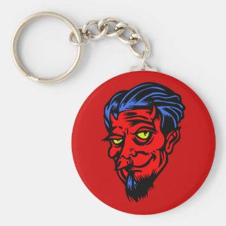 Stilig djävulenkeychain rund nyckelring