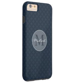 Stilig marinblå manlig personlig Monogram Tough iPhone 6 Plus Fodral