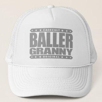 Stilla BALLER-GRANNY - vagga en gangsterYoga Truckerkeps