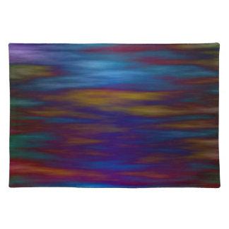 Stilla bevattnar i blått och färgrika reflexioner bordstablett