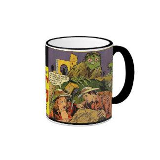 Stilla forntida varelser finns - tecknaden täcker kaffe koppar