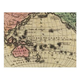 Stilla hav brittiska öar vykort