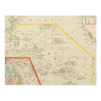 Stilla hav inklusive Oceania Vykort