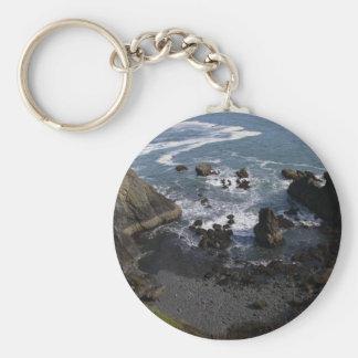 Stilla hav rund nyckelring