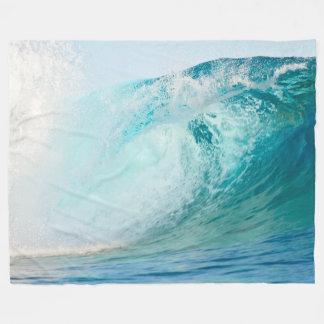Stilla havblått vinkar bryta ullfilten