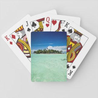 Stillahavs- ö med palmträdpokerdäcket casinokort
