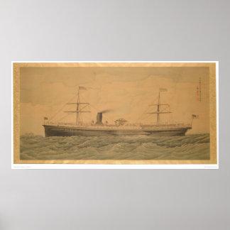 Stillahavs- Steamship Sacramento (1607A) Poster