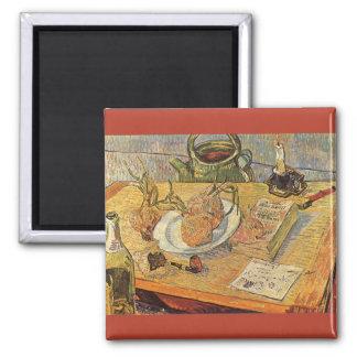Stilleben av Vincent Van Gogh, vintagekonst Magnet