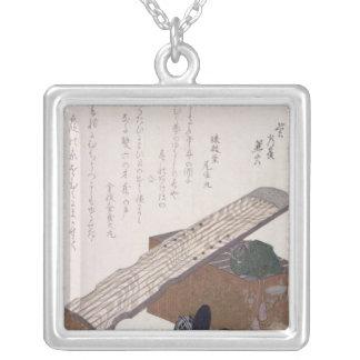 Stilleben med en Koto, c.1810 Silverpläterat Halsband
