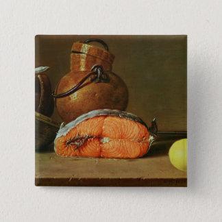 Stilleben med ett biet av laxen standard kanpp fyrkantig 5.1 cm