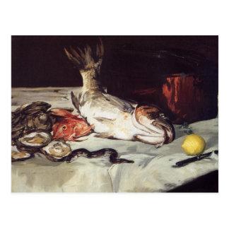 Stilleben med fisken - Edouard Manet Vykort