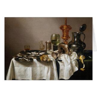 Stilleben med giltbägaren - Willem Claesz. Heda Hälsningskort