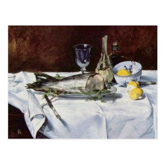 Stilleben med laxen - Edouard Manet Vykort