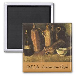 Stilleben med stenflaskor av Vincent Van Gogh Magnet