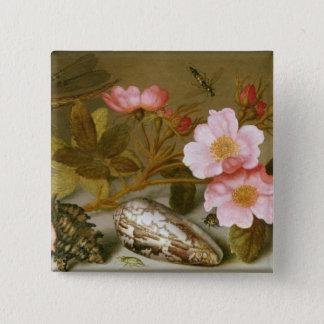 Stilleben som visar blommor standard kanpp fyrkantig 5.1 cm