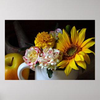 """Stillebenkanvastryck """"för trädgårds- blomma"""" affischer"""