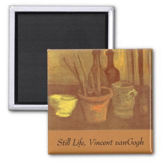 StillebenPaintbrushes i en kruka Vincent Van Gogh Magnet