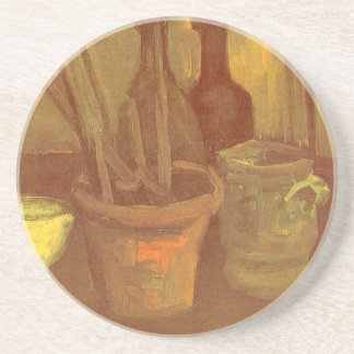 StillebenPaintbrushes i en kruka Vincent Van Gogh Underlägg Sandsten