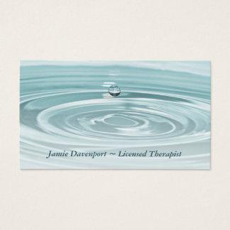 Stillsam Waterdrop visitkort