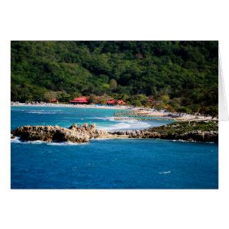 Stillsamt öparadis Labadee Haiti Hälsningskort