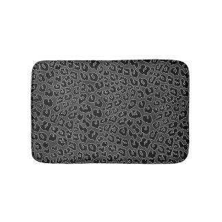 Stippled svart Leopardtryck Badrumsmatta