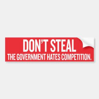 Stjäla inte den regerings- hatkonkurrensen Sticke Bildekal
